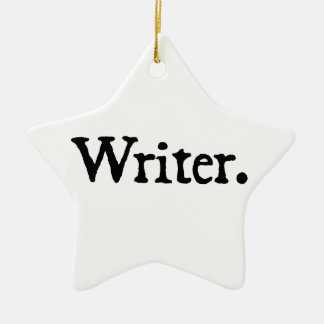 Writer Christmas Tree Ornament