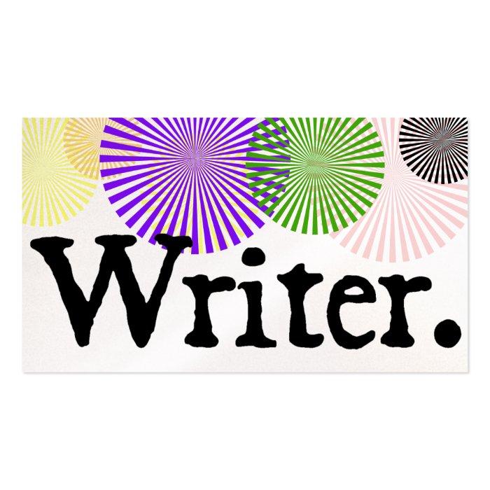 Writer Color Bursts Business Card