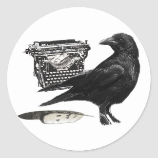 Writer Crow stickers