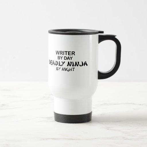Writer Deadly Ninja by Night 15 Oz Stainless Steel Travel Mug