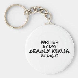 Writer Deadly Ninja by Night Basic Round Button Keychain