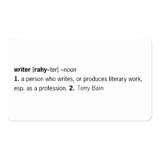 Writer Defined [as You] Double-Sided Standard Business Cards (Pack Of 100)