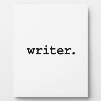 writer. display plaque