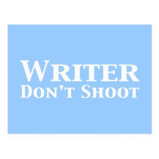 Writer Don't Shoot Gifts Postcard