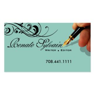 Writer Editor 1 Stylish Creative Business Cards