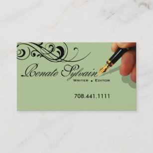 Journalist journalism technical copywriter gifts on zazzle writer editor 1 stylish creative business cards reheart Images