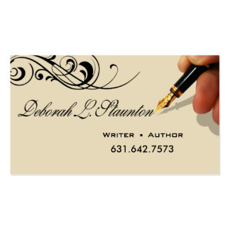 Writer Editor 1 Stylish Creative for Deborah Double-Sided Standard Business Cards (Pack Of 100)