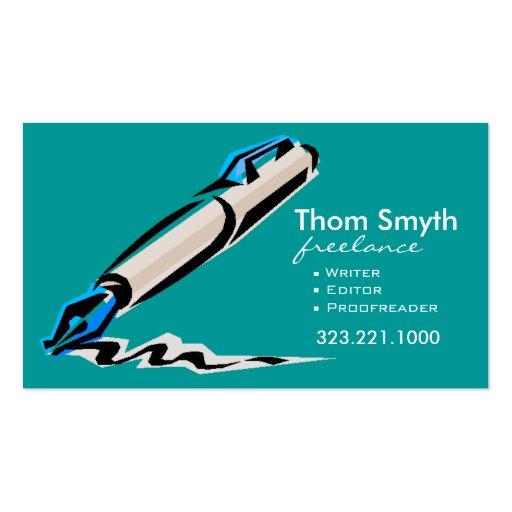 Writer Editor 3 Stylish Creative Business Cards | Zazzle