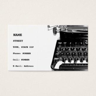 Writer Editor Author Novelist Book Business Card