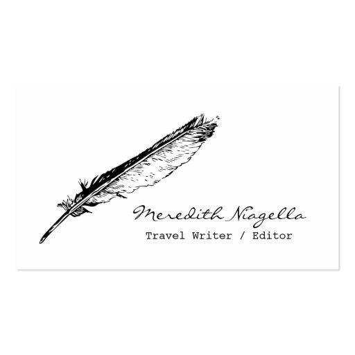Writer / Editor / Authors Business Card