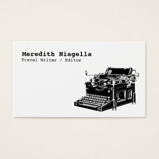 Writer / Editor / Authors Business Card Template