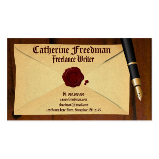 Writer Editor Proofreader Author Business Cards