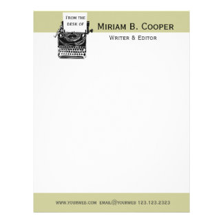 Writer Editor Publishing Professional Letterhead