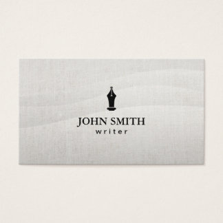 Writer Elegant Flowing Background Professional Business Card
