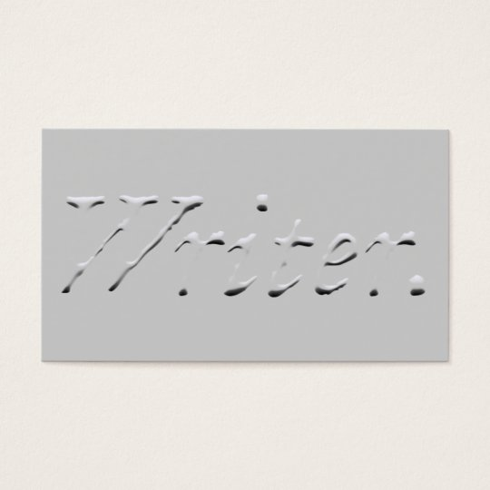 "Writer ""Embossed"" Graphic Business Card"