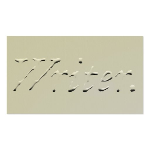 """Writer """"Embossed"""" Graphic Business Card"""