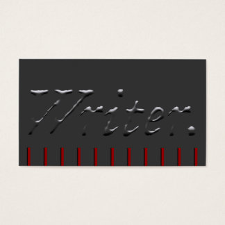 Writer Embossed with Red Pickets Business Card