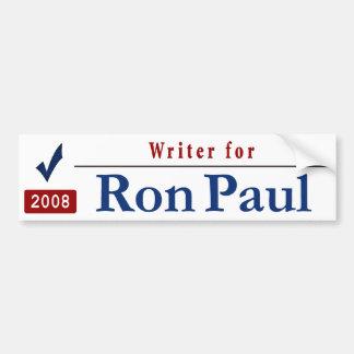 Writer for Ron Paul Car Bumper Sticker