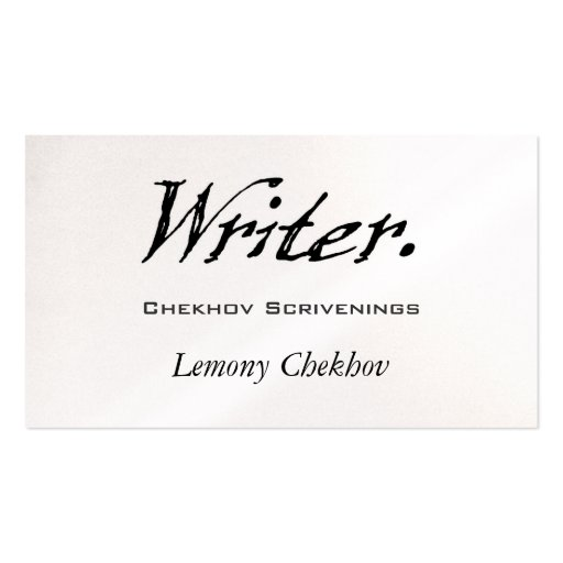 Writer Four Score Business Card Templates