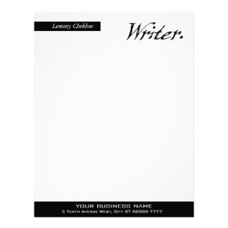 Writer Four Score Letterhead