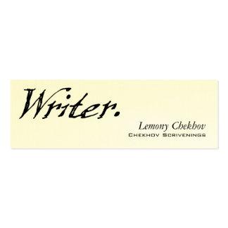 Writer Four Score Mini Business Card
