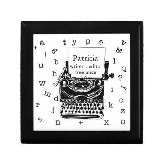 Writer Freelance Retro Vintage Typewriter Jewelry Box