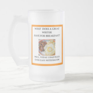 WRITER FROSTED GLASS BEER MUG