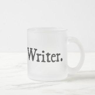 Writer. Frosted Glass Coffee Mug