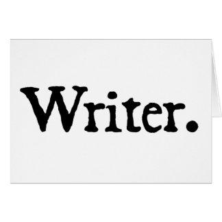 Writer. Greeting Card