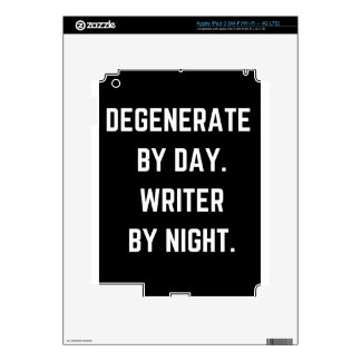 Writer Humor Degenerate Illustration Design iPad 3 Skin