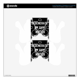Writer Humor Degenerate Illustration Design PS3 Controller Decals