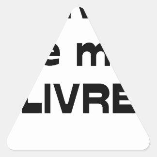 WRITER, I DELIVER MYSELF - Word games Triangle Sticker
