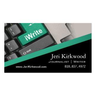 Writer Journalist Author Reporter Novelist Business Card