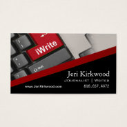 Writer Journalist Author Reporter Novelist Business Card at Zazzle