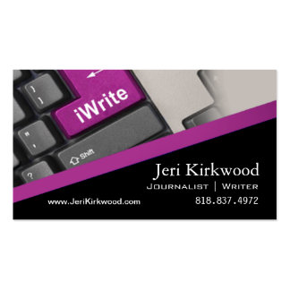 Writer Journalist Author Reporter Novelist Double-Sided Standard Business Cards (Pack Of 100)