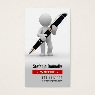 Writer Journalist Ballpoint Pen Business Cards