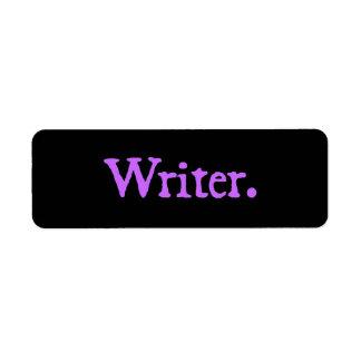 Writer Lavender Text Label