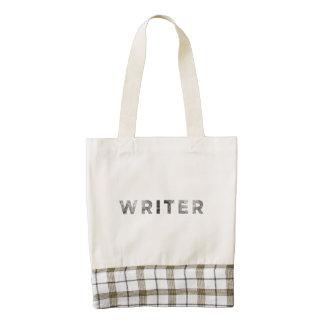 writer letterpress black zazzle HEART tote bag