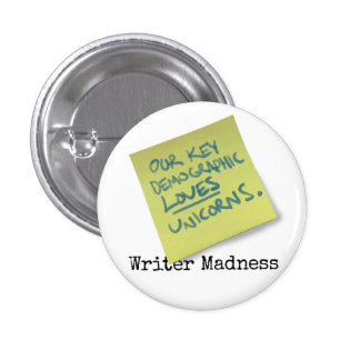"""Writer Madness"" Movie Round Button"