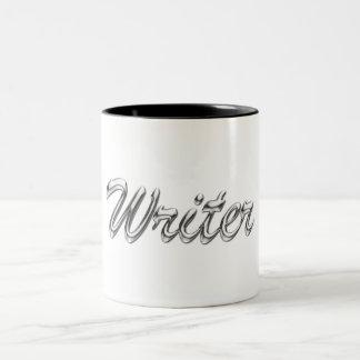 Writer Metallic Looking Script Mug