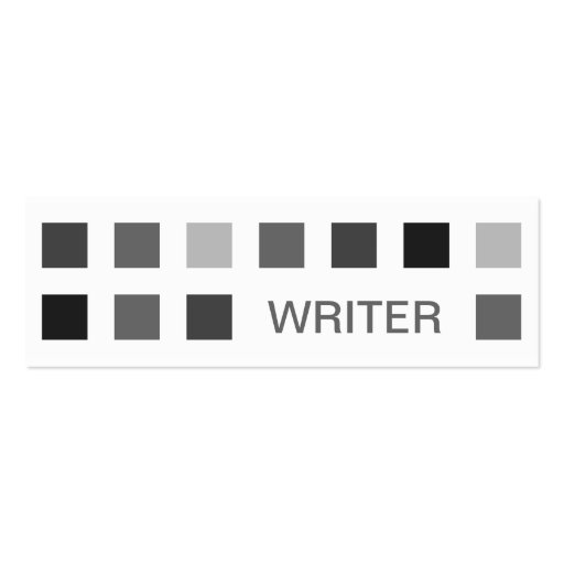 WRITER (mod squares) Double-Sided Mini Business Cards (Pack Of 20)