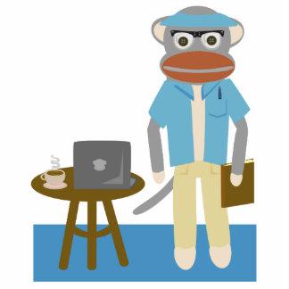 Writer Monkey Sculpture