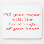 Writer Mouse Pad