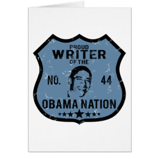 Writer Obama Nation Card