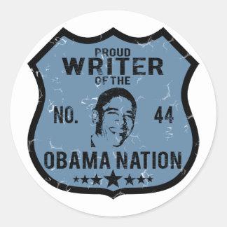 Writer Obama Nation Classic Round Sticker