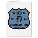 Writer Obama Nation Greeting Card
