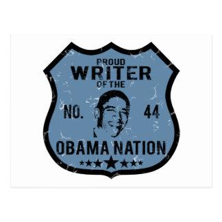 Writer Obama Nation Postcard