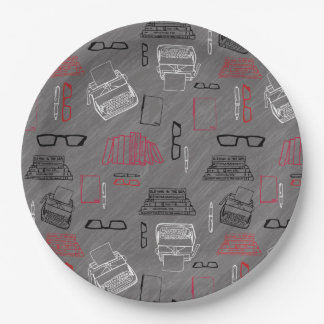 Writer Paper Plate