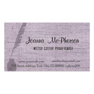 Writer Pen  Editor Journalist Plain Custom Business Card