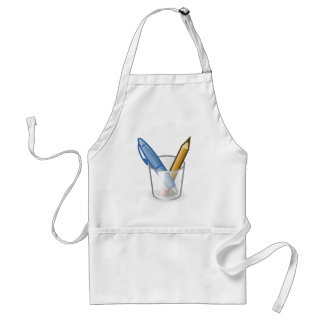 Writer Pen Pencil Cup Adult Apron